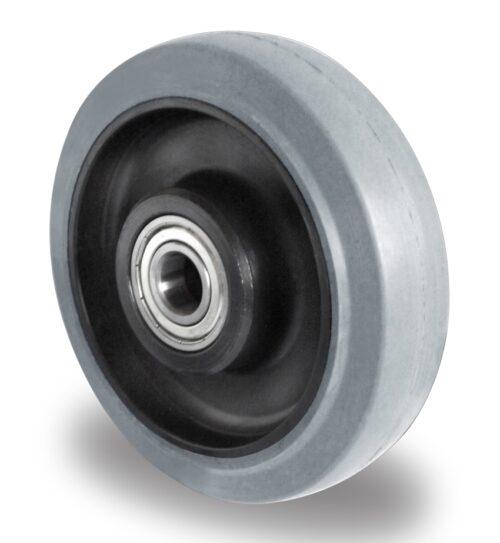 200mm Castor Grey Elastic Rubber